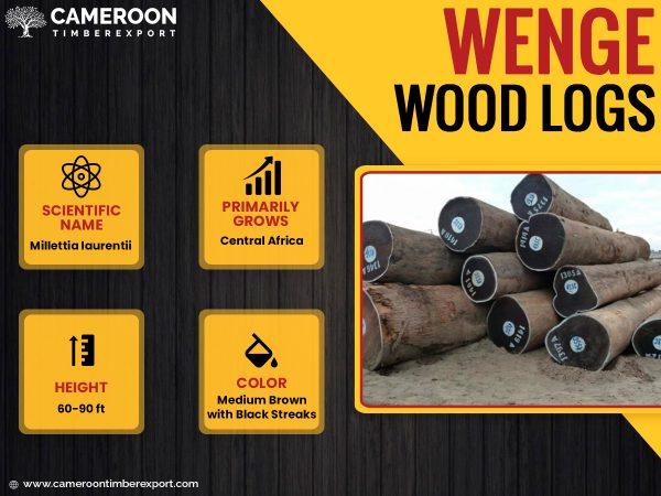 wenge wood logs