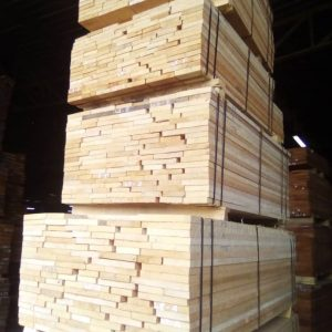 Anigre sawn timber