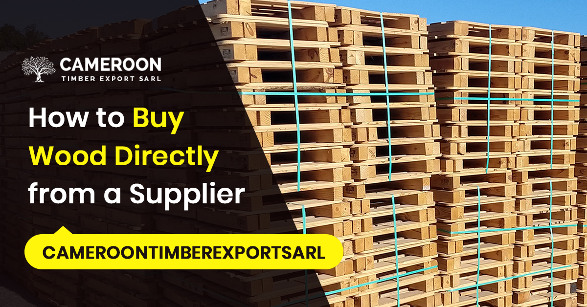 buy wood directly from supplier